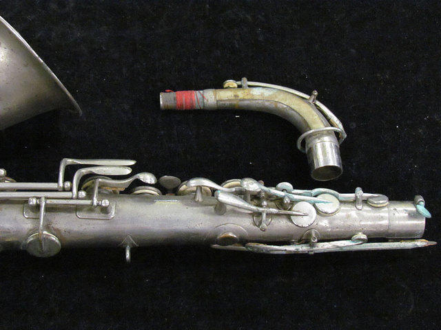Closeup of original Adolphe Sax alto