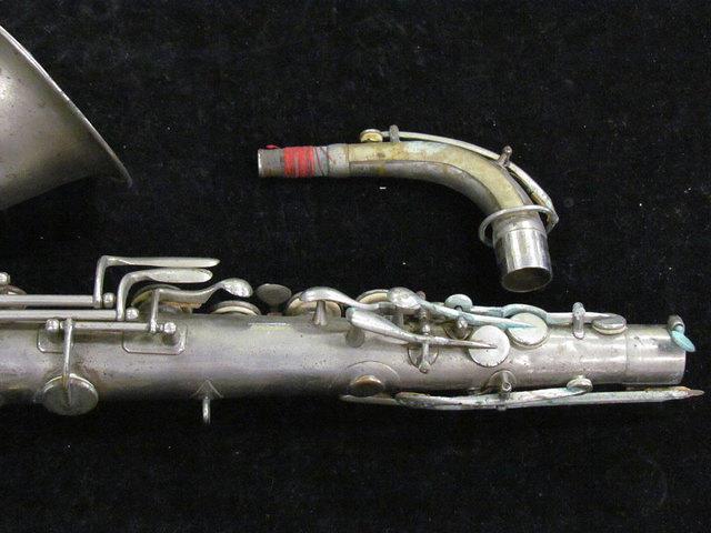 Closeup of original Adolphe Sax alto