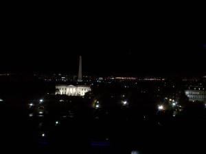 View from the Ballroom at the Hay-Adams...right behind where I was standing.  It's more impressive when you aren't taking a picture with a Blackberry.